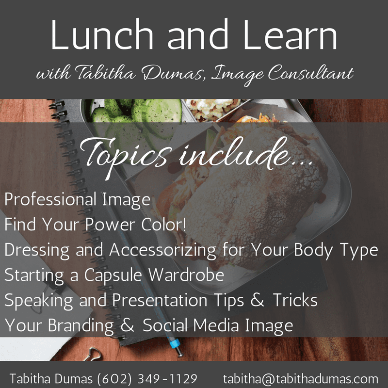 Lunch and Learn topics Tabitha Dumas tabithadumas.com work with me