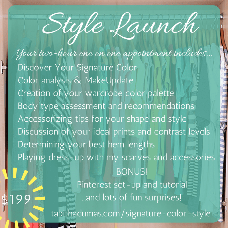 Signature Color Style - Style Launch head to toe makeover! Tabitha Dumas Image Consultant tabithadumas.com
