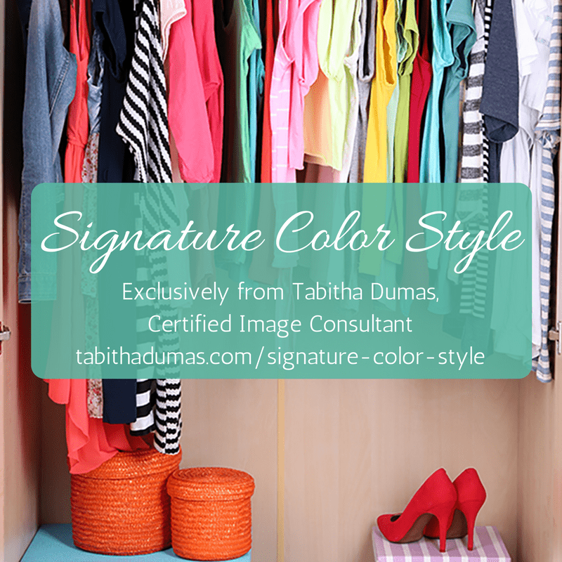 Signature Color Style exclusively from Tabitha Dumas, Certified Image Consultant