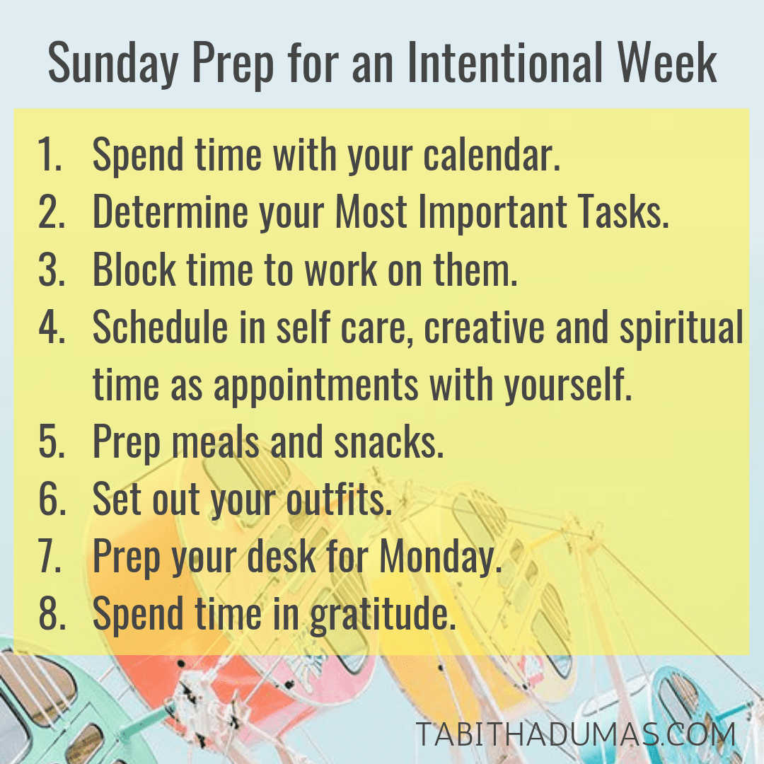 Sunday Prep for an Intentional Week