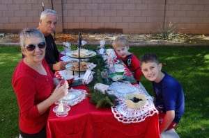Stop waiting for perfect. Have the tea party in the back yard! From the Tabithadumas.com blog
