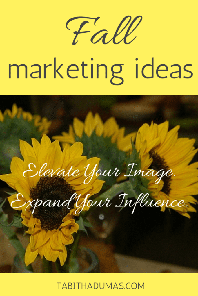 Fall marketing ideas to elevate your image and expand your influence. TabithaDumas.com