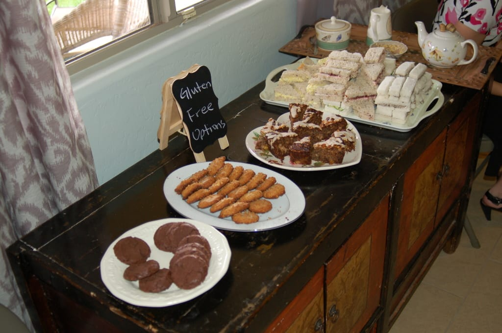 The gluten free options at my tea party. My Signature Event, the potluck tea party! on Tabithadumas.com