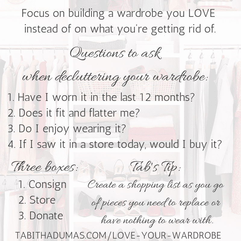 Questions to ask when decluttering your wardrobe_