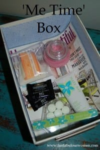 "inexpensive self care ideas...create a ""me time"" box! From tabithadumas.com"