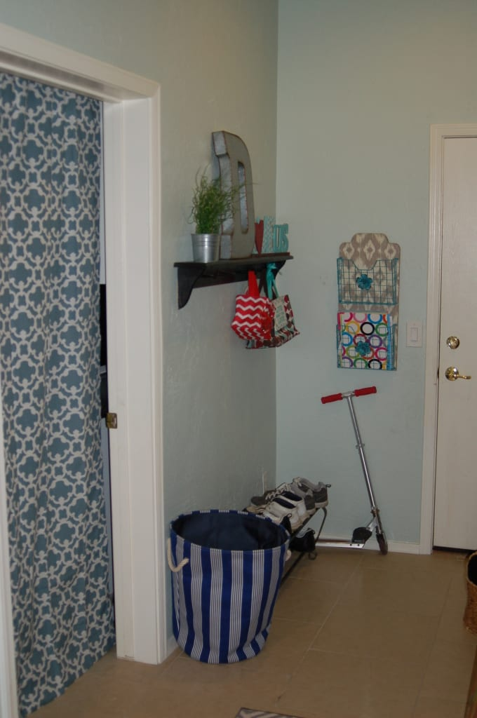 Make your home your haven--but you have to DECLUTTER first. Once we decluttered, we repurposed this space into a mud room/home command center.