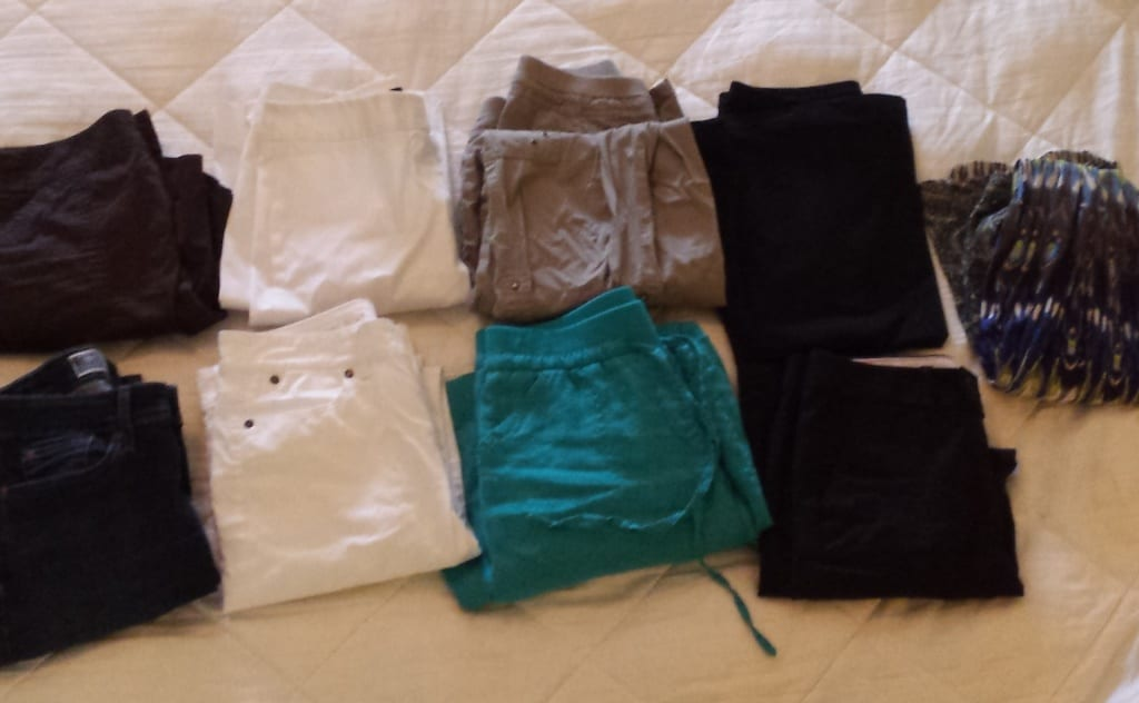 "The ""bottoms"" of my capsule wardrobe. Need help starting your capsule wardrobe? Join me??"
