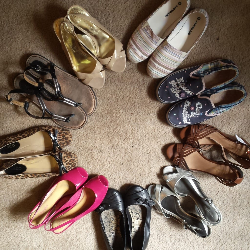 Are you starting your capsule wardrobe! Here are my nine pairs of shoes for my capsule wardrobe.