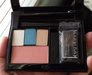 Office Oasis Mary Kay makeup look in the Mary Kay compact
