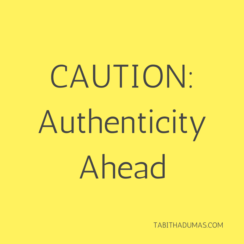 CAUTION- Authenticity Ahead