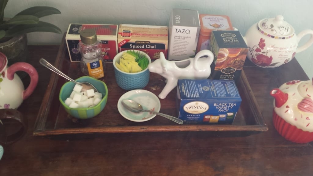 Live a tea lifestyle: my tea station from TabithaDumas.com