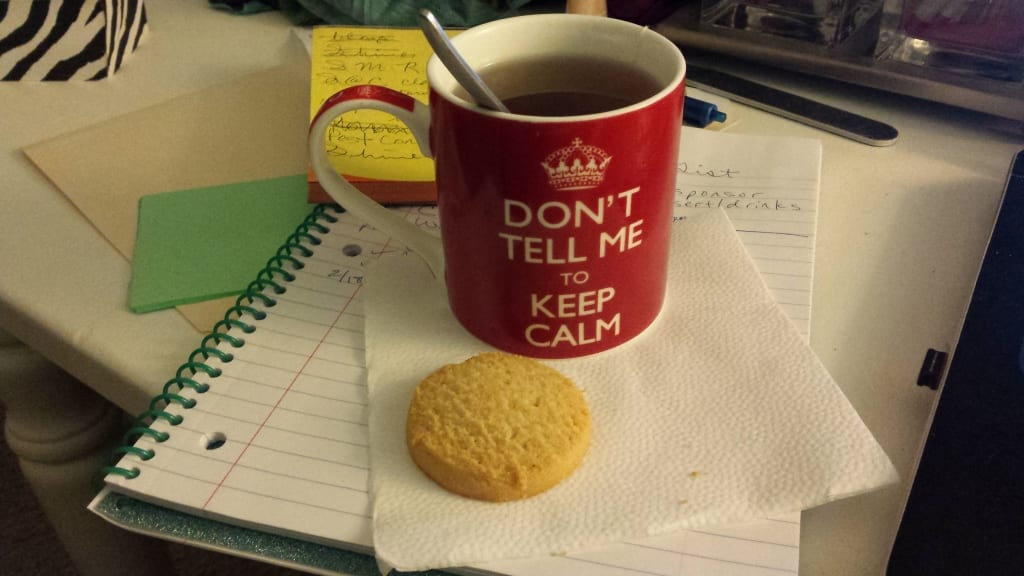 Live a tea lifestyle from TabithaDumas.com. Sleepy time tea and a cookie before bed.