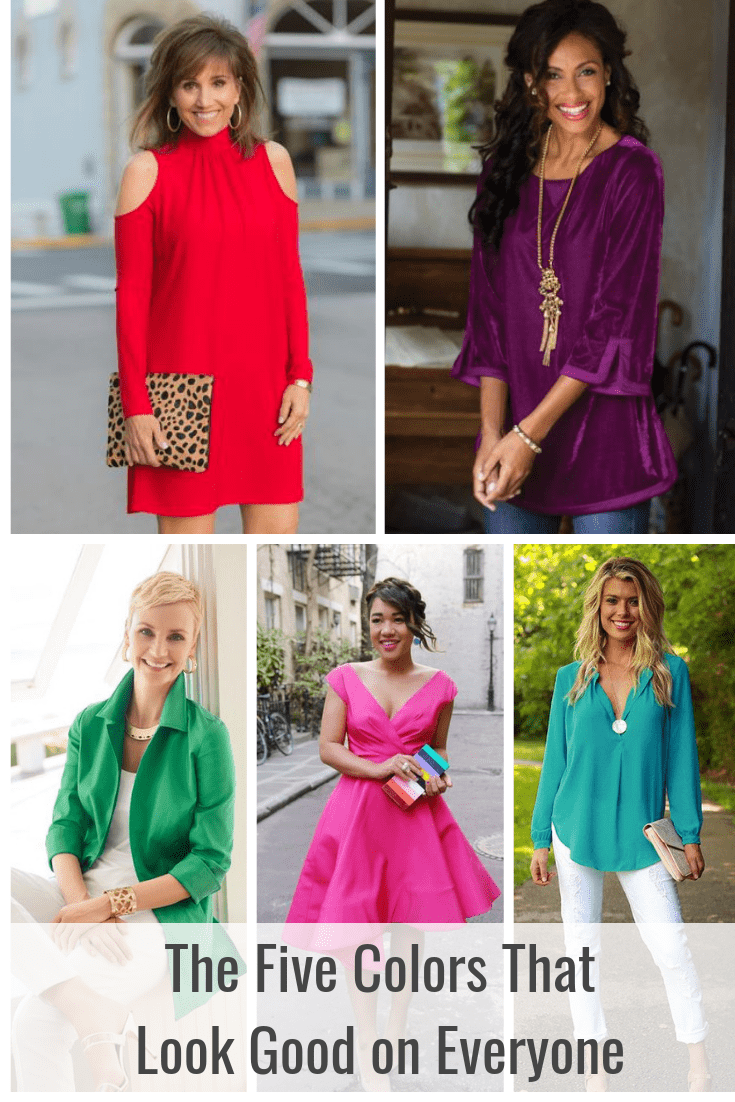 The five colors that look good on everyone! -tabithadumas.com color expert and image consultant