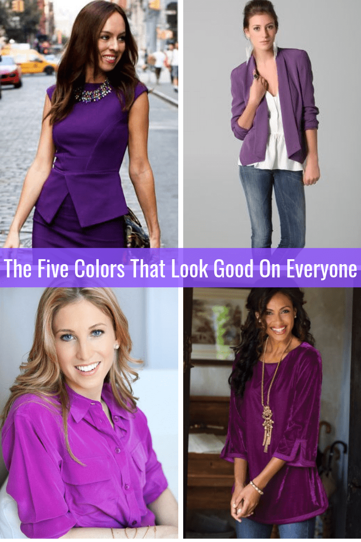 The Five Colors That Look Good on Everyone Purple Tabitha Dumas Phoenix Image Consultant