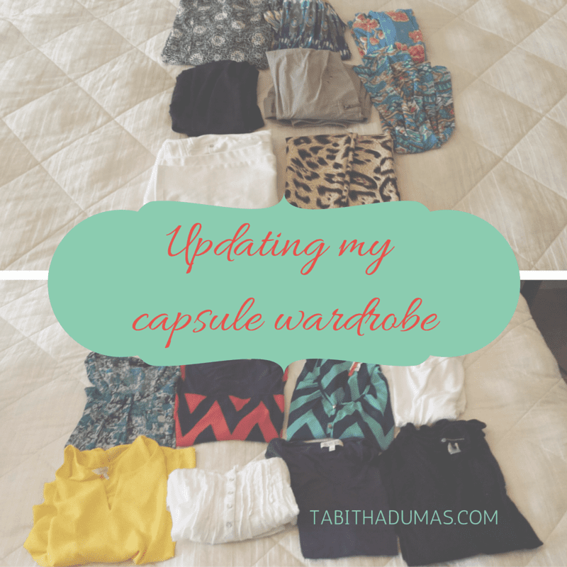 Updating my capsule wardrobe from Tabithadumas.com