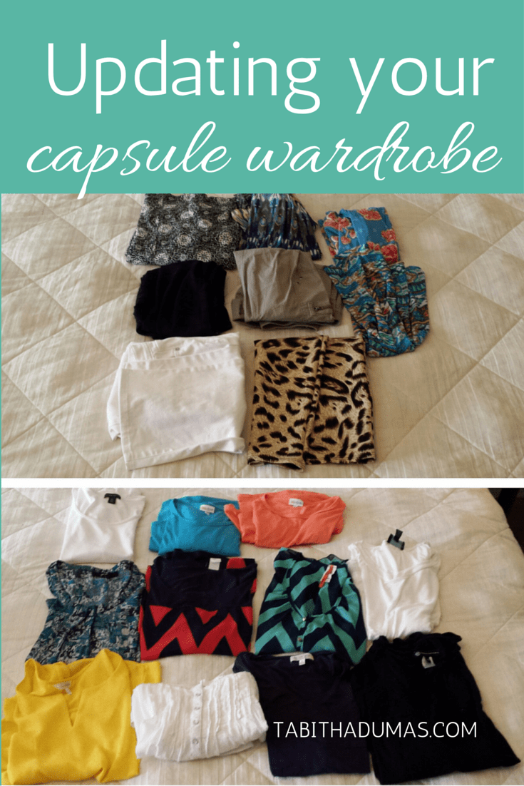 Updating your capsule wardrobe. What to take out, what to add. From tabithadumas.com