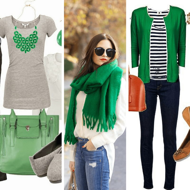 Green is one of the five colors that look good on everyone! from tabithadumas.com