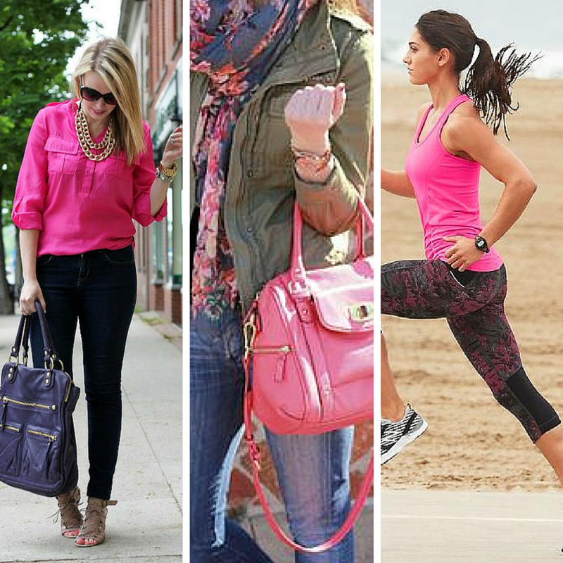 Hot pink is one of the five colors that look good on everyone! from tabithadumas.com