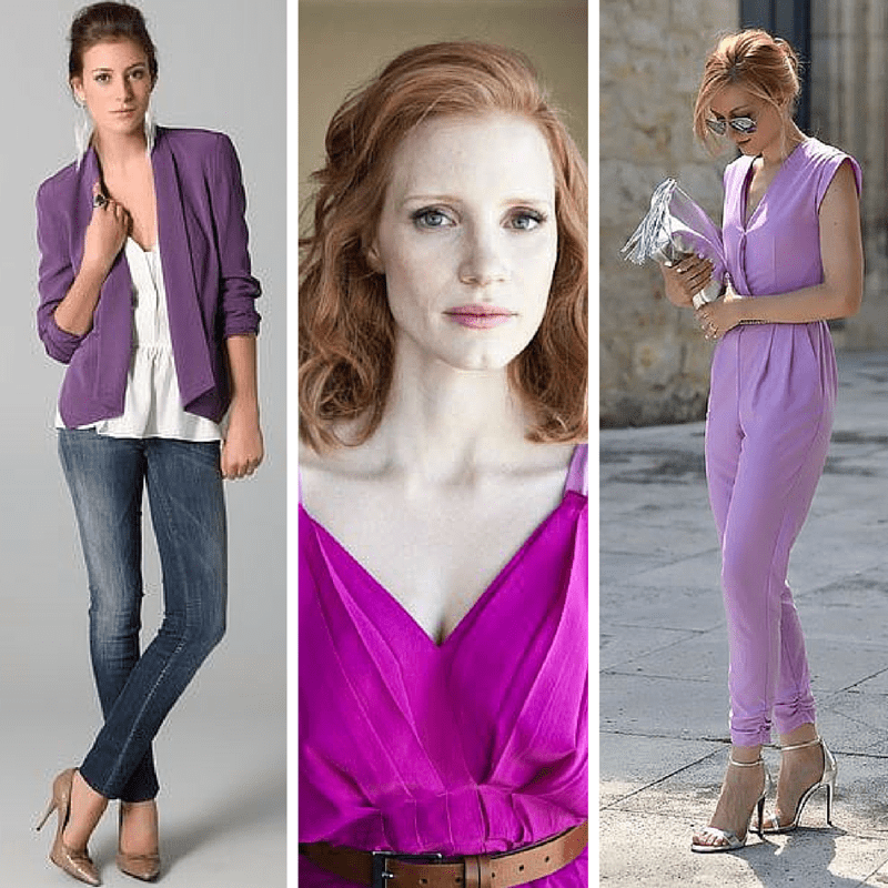 Purple is one of the five colors that look good on everyone! from tabithadumas.com