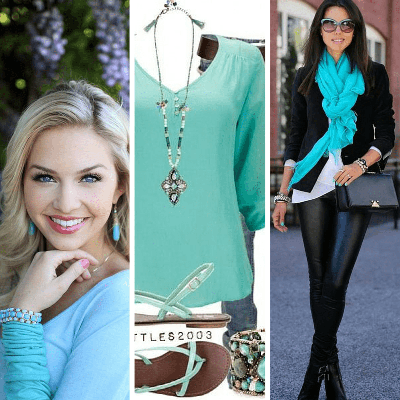 Turquoise is one of the five colors that look good on everyone! from tabithadumas.com