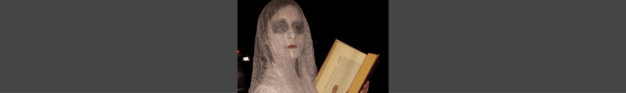 DIY ghost writer costume from tabithadumas.com tells you exactly how to put this simple and inexpensive look together!