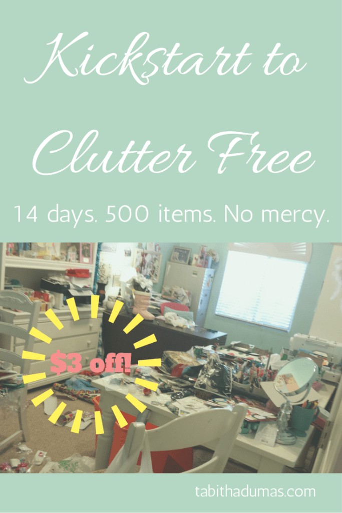 Kickstart to Clutter Free $3 off from tabithadumas.com