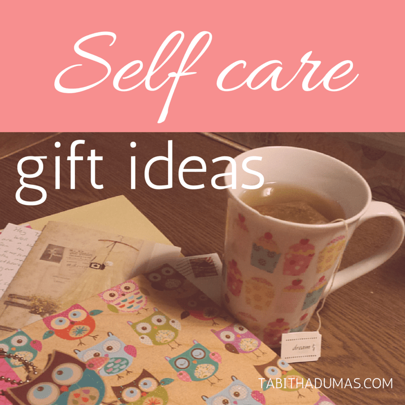 Self care gift ideas. Let people give you gifts that you can use all year and that will help you feel amazing! tabithadumas.com