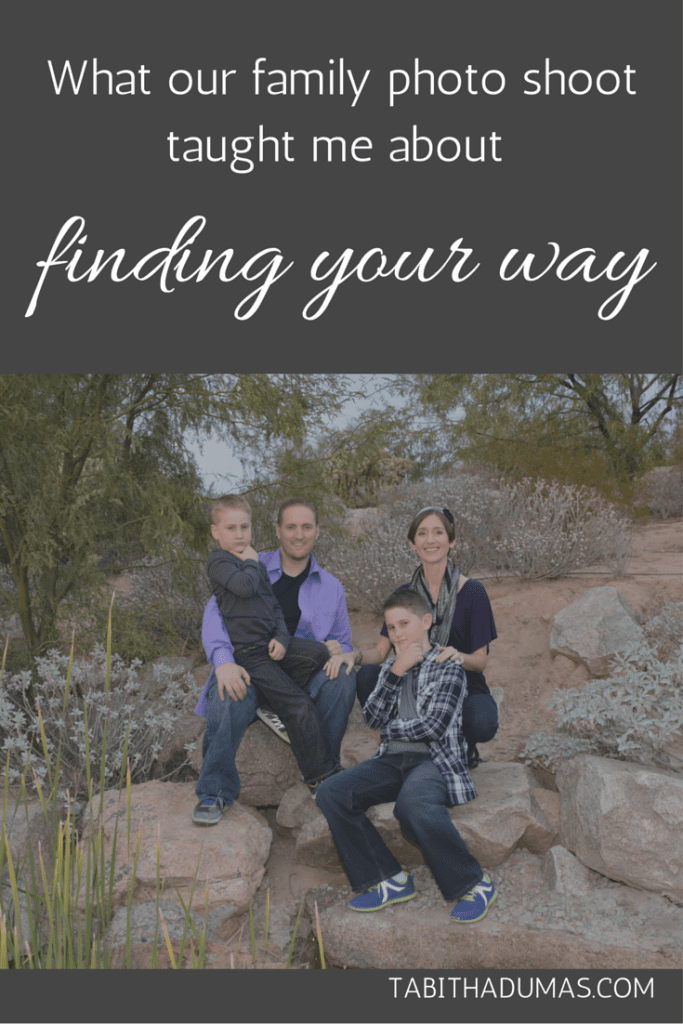 What our family photo shoot taught me about finding your way. From tabithadumas.com