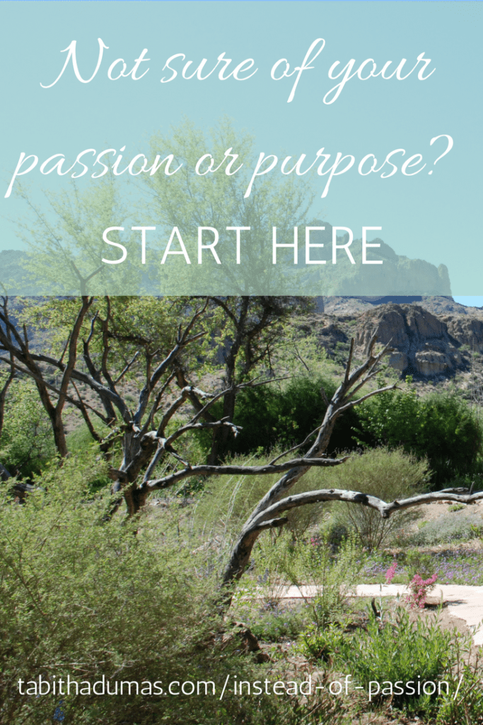 When you aren't sure of your passion or purpose. Start here! -tabithadumas.com