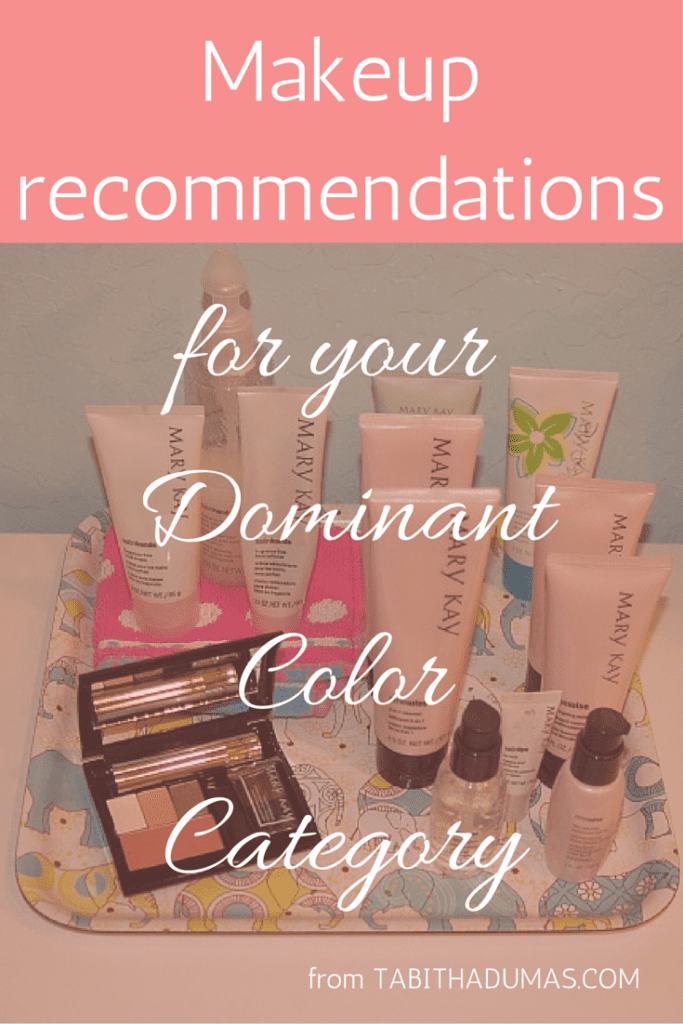 Makeup recommendations for your Dominant Color Category from TABITHADUMAS.COM, image consultant.
