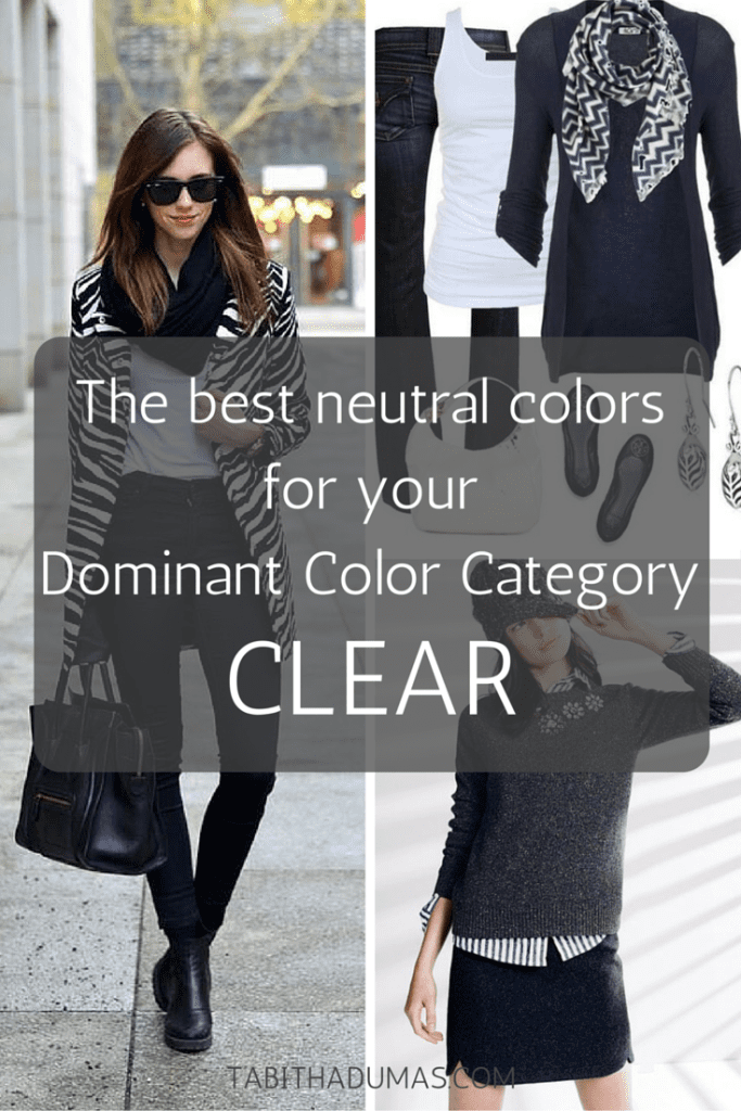 The best neutral colors for your Dominant Color Category--CLEAR. tabithadumas.com