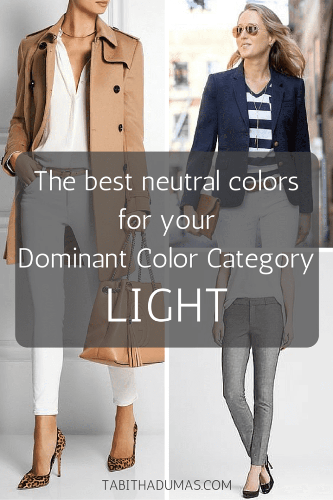 The best neutral colors for your Dominant Color Category--LIGHT. tabithadumas.com