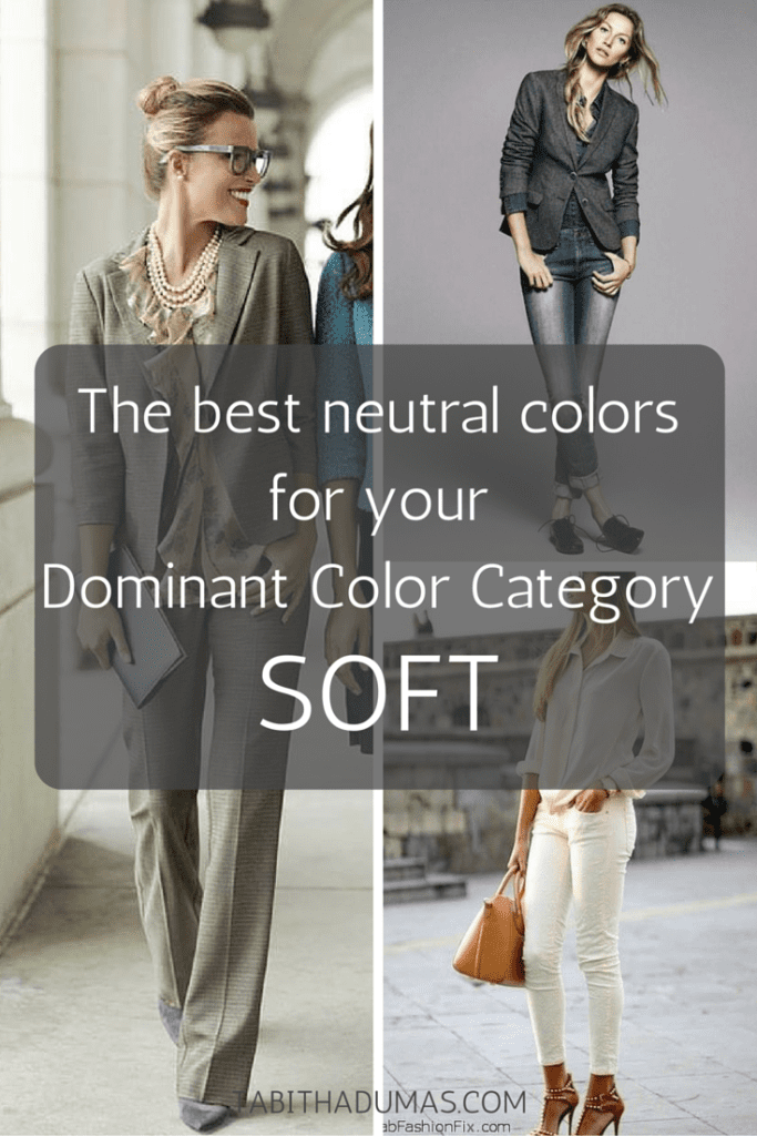 The best neutral colors for your Dominant Color Category--SOFT. tabithadumas.com