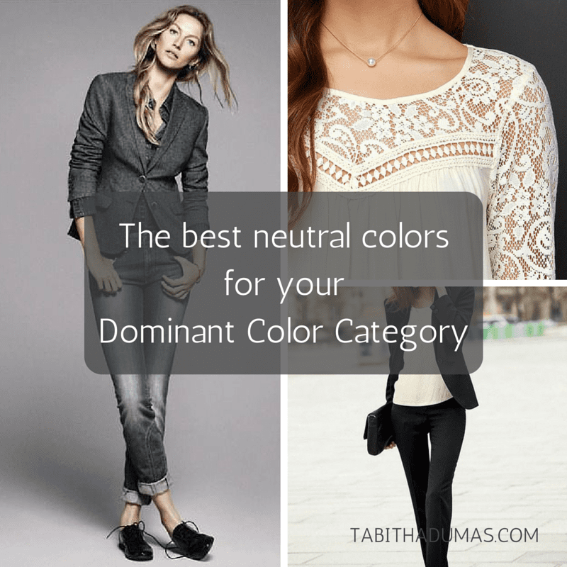 The best neutral colors for your Dominant Color Category. tabithadumas.com