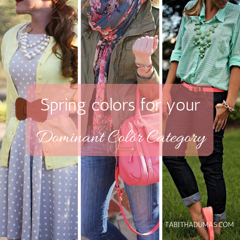 spring colors for your Dominant Color Category by tabithadumas.com