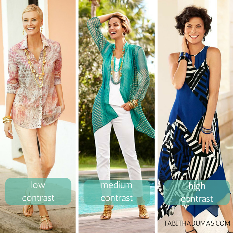 A lesson in contrast. Low, medium and high. Which one are you- from tabithadumas.com, image consultant3