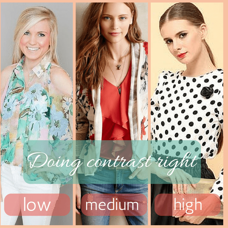 A lesslon in contrast- low, medium and high