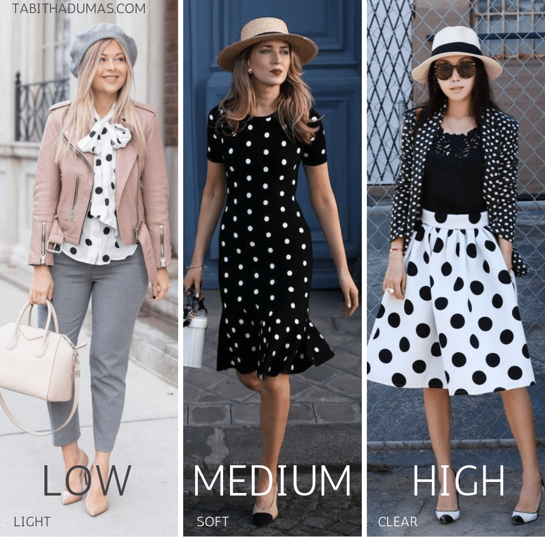 polka dots for your color code and a lesson in contrast levels from Tabitha Dumas Phoenix image consultant