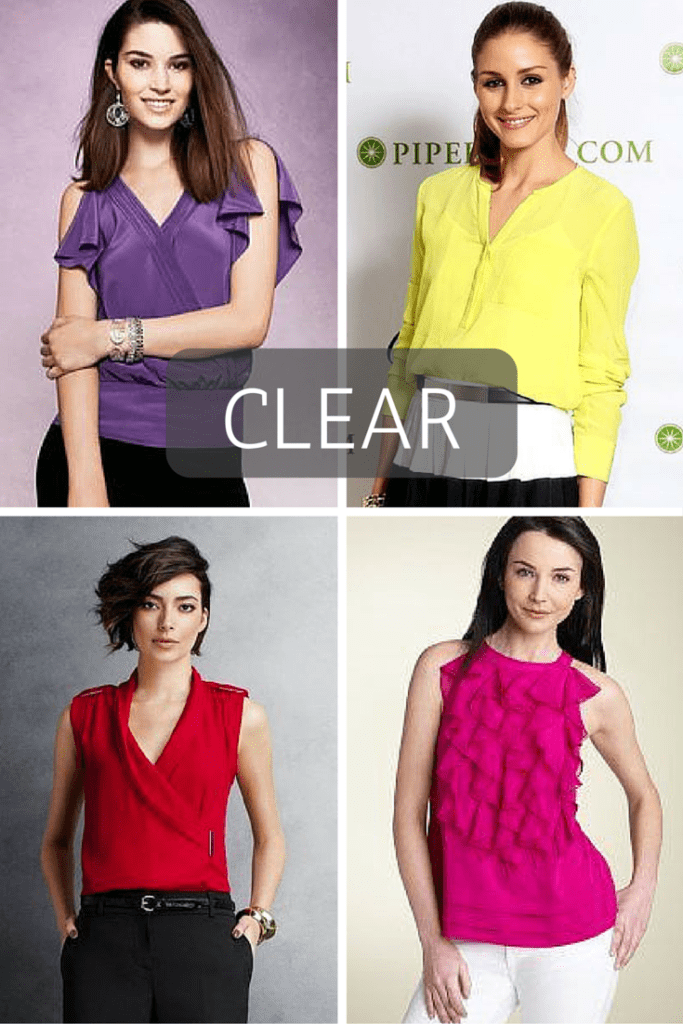Best colors for headshots- CLEAR. tabithadumas.com image consultant