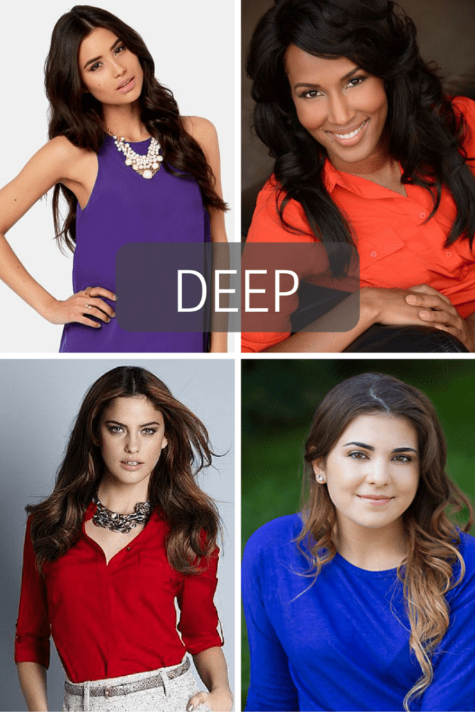 Best colors for headshots- DEEP. tabithadumas.com image consultant