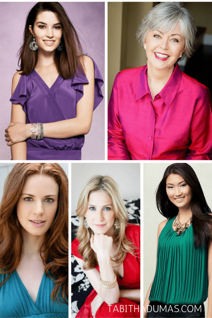 The five best colors for headshots from TABITHADUMAS.COM image consultant