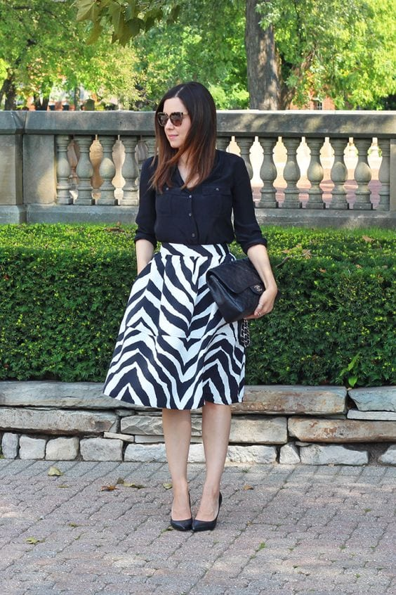 CLEAR ladies rock the zebra print! How to wear leopard print for every Dominant Color Category by tabithadumas.com