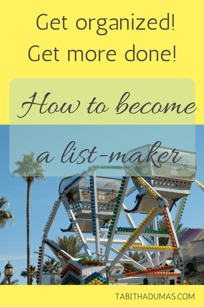How to become a list-maker from TABITHADUMAS.COM