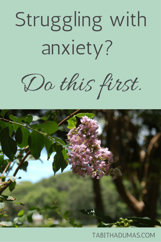 Struggling with anxiety- Do this first. TABITHADUMAS.COM