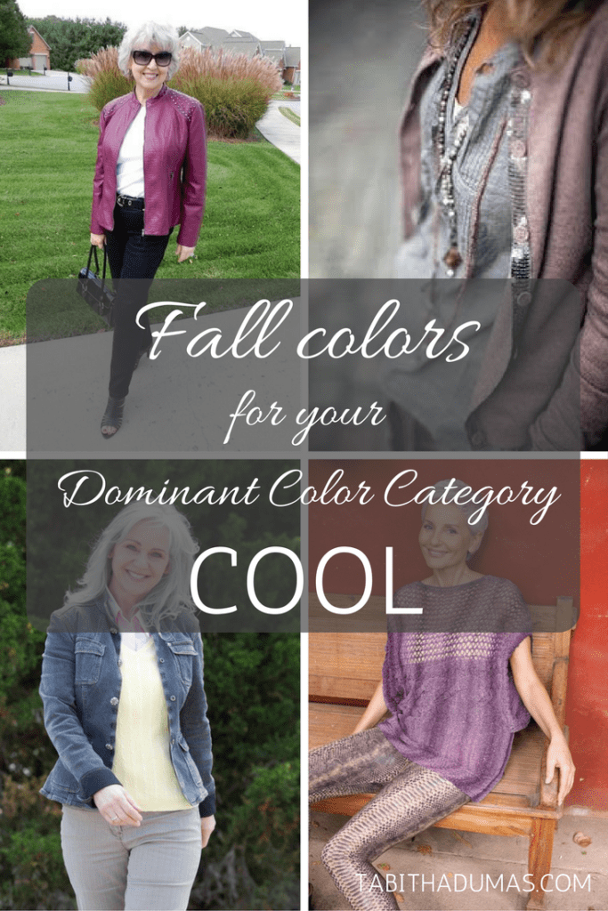 Fall colors for your Dominant Color Category--Cool. tabithadumas.com
