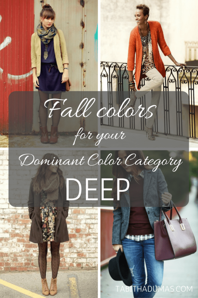 Fall colors for your Dominant Color Category--DEEP. tabithadumas.com