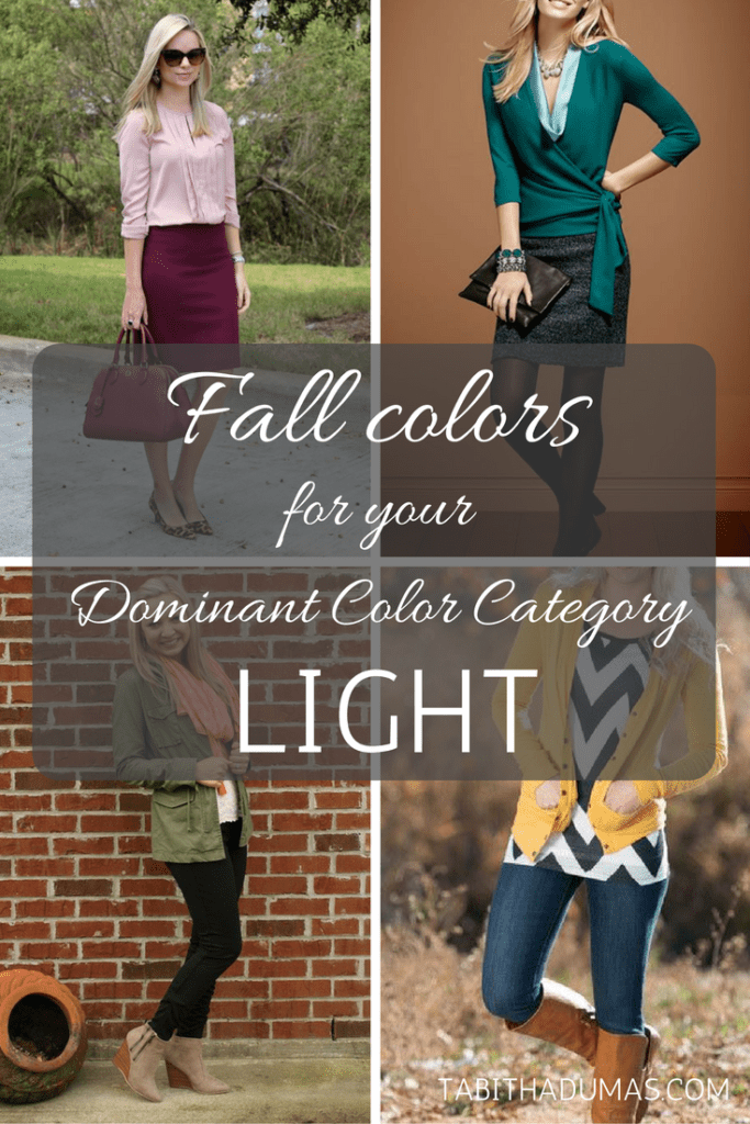 Fall colors for your Dominant Color Category--LIGHT. tabithadumas.com
