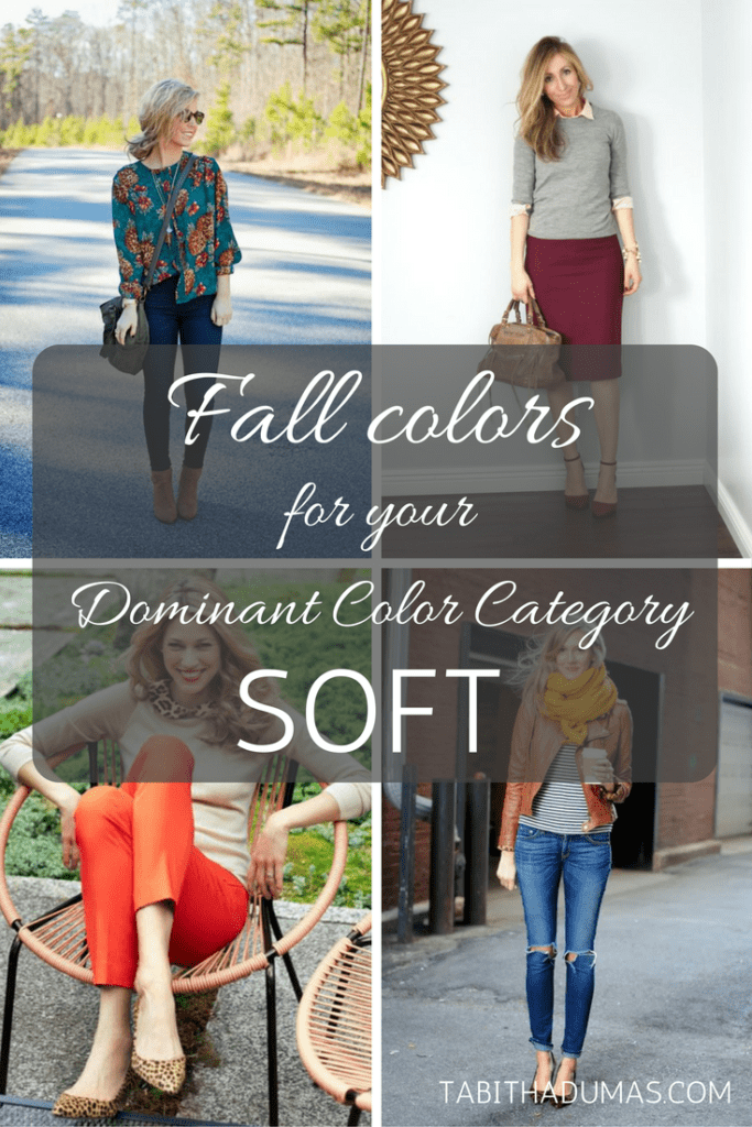Fall colors for your Dominant Color Category--SOFT. tabithadumas.com