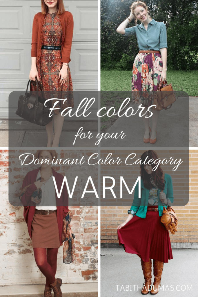 Fall colors for your Dominant Color Category--WARM. tabithadumas.com