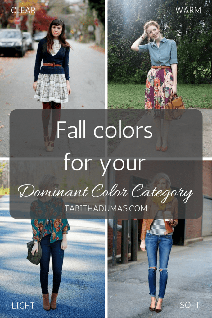 Fall colors for your Dominant Color Category from tabithadumas.com